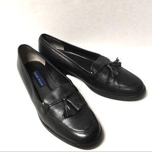 EUC Karen Scott preppy leather tassel loafers 8
